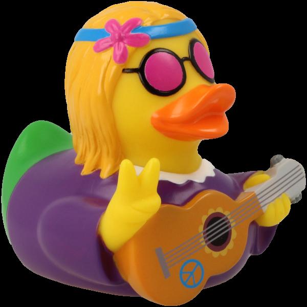 Hippie female rubber duck