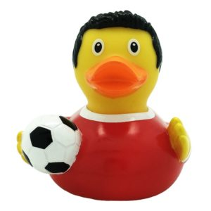 Soccer player Rubber duck
