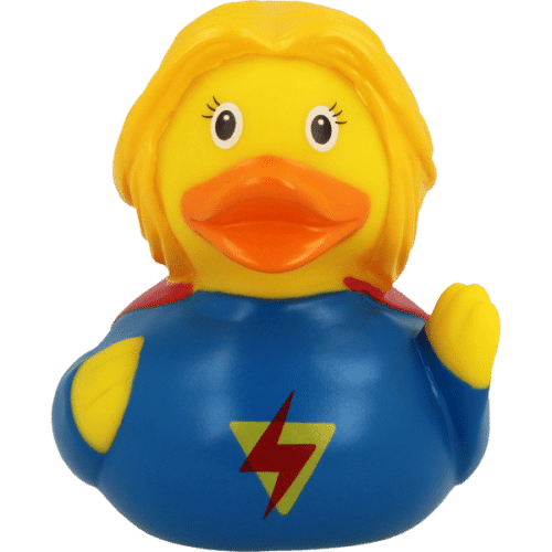 Supergirl Rubber Duck