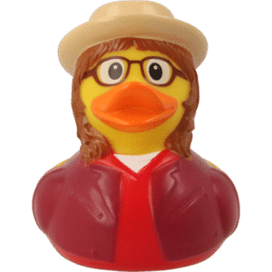 Female Hipster rubber duck