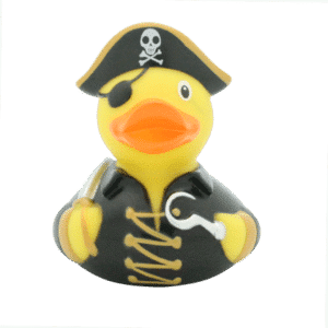 Black Pirate rubber duck