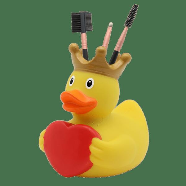Yellow Queen whit Heart Rubber Duck