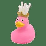 Pink Queen Rubber Duck toothbrush holder