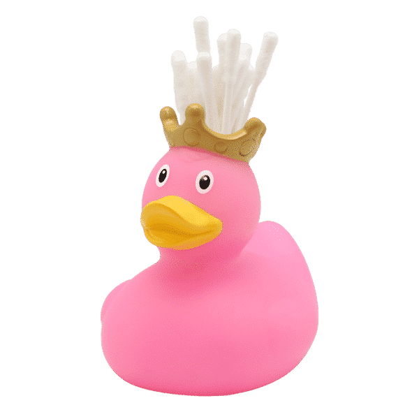 Pink Queen Rubber Duck toothbrush holder