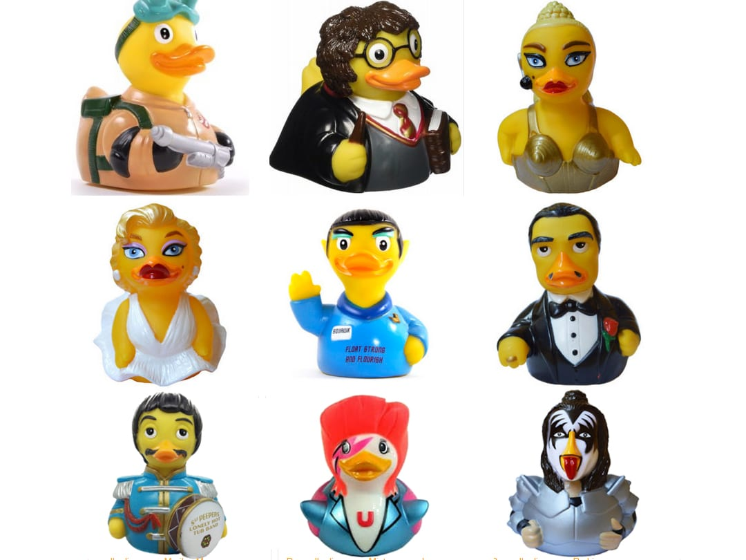 Celebrity rubber ducks