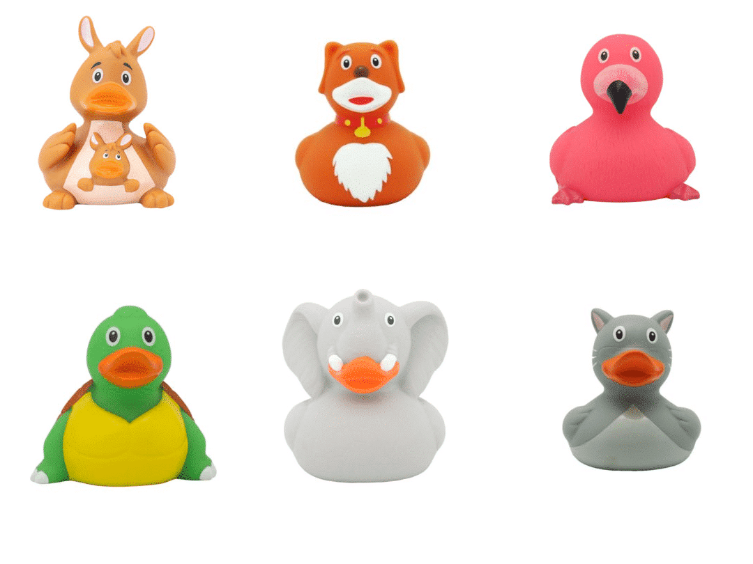 animals rubber ducks