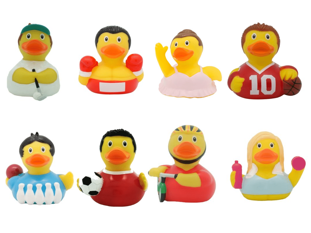 sporty rubber ducks