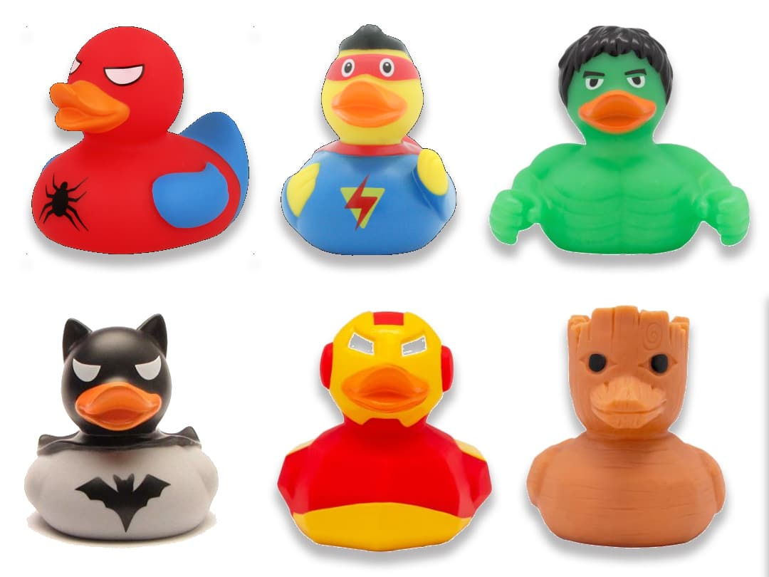 superheroes rubber ducks